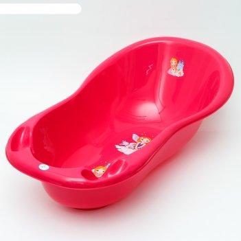Ванна детская 102 см., принцесса, цвет розовый