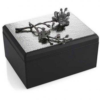 Шкатулка для украшений michael aram чёрная орхидея 24x20см