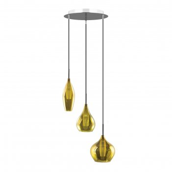 Светильник pentola 3х25вт g9 хром, оливковый 40x150см