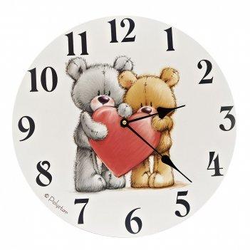 Часы настенные berny d=34,5см. b=3см. (6видов) (батарейка-1аа) (подарочной