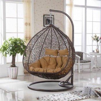 Подвесное кресло cocoon chair 109 xl brown, садовая мебель