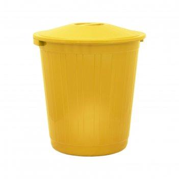 Бак с крышкой 80л желтый