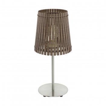 Настольная лампа sendero 60вт e27 никель