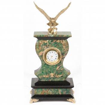 Часы орел березит змеевик бронза 140х95х300 мм 2700 гр.