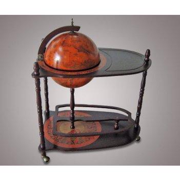 Jg33035r глобус бар со столиком напольный d-33см. jufeng