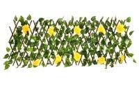Декоративное ограждение желтая роза 210x25 см
