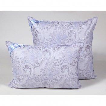 Подушка стёганная 50х70 см, иск. лебяжий пух, ткань тик, п/э 100%