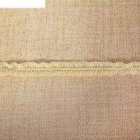 Кружево вязаное ажурное с двух сторон, резинка, ширина 2 см, 15 м, цвет бе