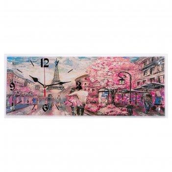 Часы настенные, серия: город, париж, 20х50 см