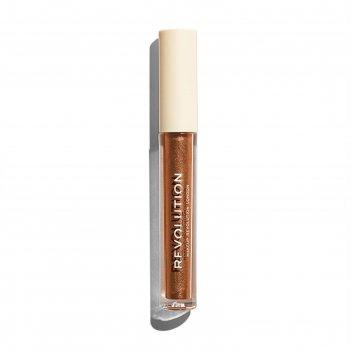 Блеск для губ revolution makeup revolution nudes collection metallic, отте