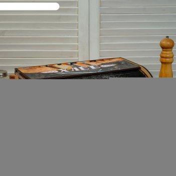 Хлебница деревянная батон, нарезка, цветная