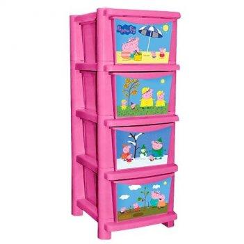 Детский комод для детской комнаты свинка пеппа розовый