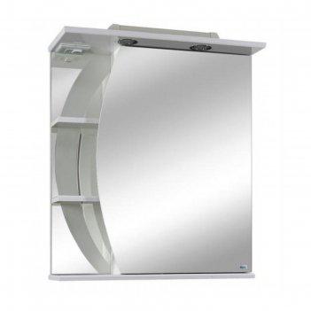 Шкаф-зеркало лимани 50 с подсветкой левое, белый