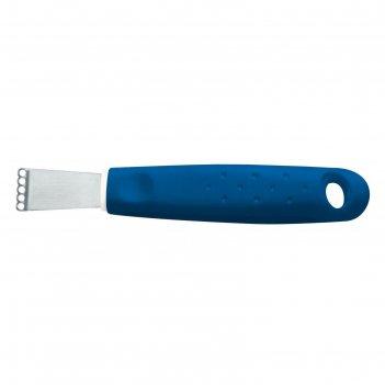 Нож для очистки кожуры цитрусовых, цвет синий