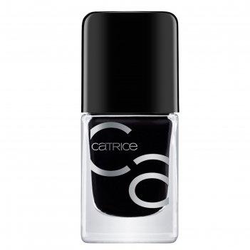 Лак для ногтей catrice iconails gel lacquer, тон 20 black to the routes че