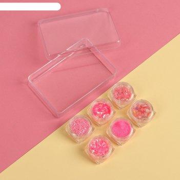 Набор для декора, цвет розовый