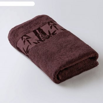 Полотенце «бамбук», размер 41 x 70 см, махра, цвет каштановый