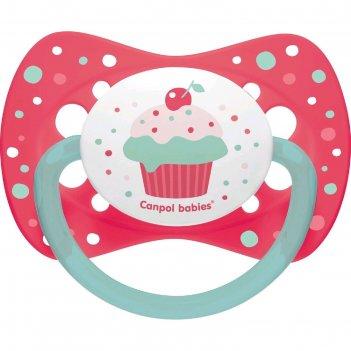 Пустышка силиконовая canpol babies cupcake, симметричная, от 18 месяцев, ц