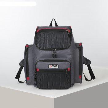 Рюкзак тур агир 2, 40л, отд на молнии, 3 н/кармана, серый