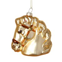 Елочное украшение лошадка высота=10 см.