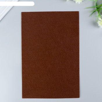 Фетр  полужесткий  1 мм 20х30 см  коричневый