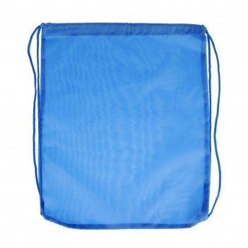 Мешок для обуви стандарт, 405 х 340, calligrata, голубой