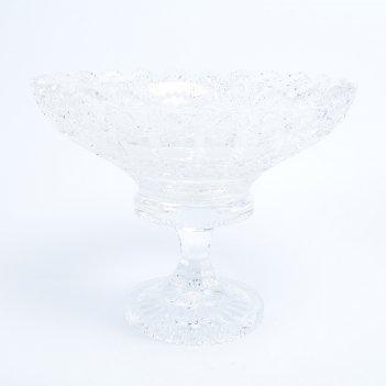 Фруктовница на ножке sonne crystal 25 см