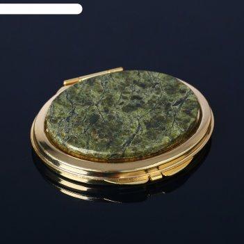Зеркало каменный блик, 7,1х6,3х1,1 см, змеевик