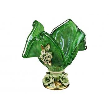 Декоративная чаша 20*20 см.высота=22 см.
