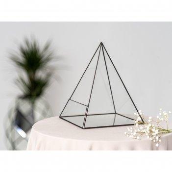 Флорариум пирамида 4 (швы серебро)