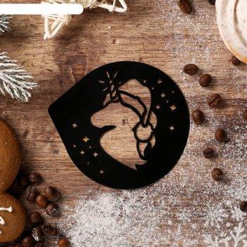 Трафарет для кофе «новогодний единорог», 9,5 x 8,5 см