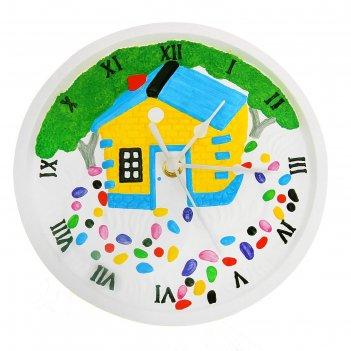 Роспись по гипсу, серия создай часы домик, краски 8 цветов по 2 мл
