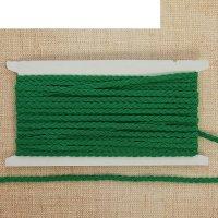 Тесьма декоративная коса, ширина 0,5 см, 10 м, цвет зелёный