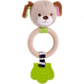 Игрушка-погремушка «щенок эко»