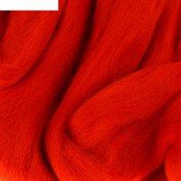 Шерсть для валяния 100% полутонкая шерсть 50 гр (124 тем. коралл.)