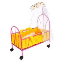 Кроватка для кукол 6 с балдахином, цвета микс