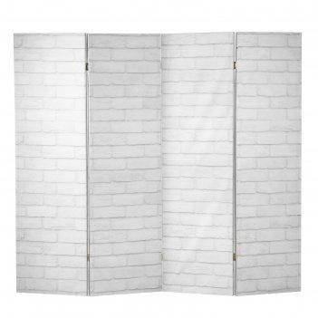Ширма кирпичная стена, двухсторонняя, 200 x 160 см
