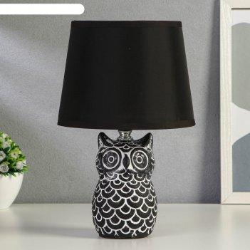 Лампа настольная 21162/1 e14 40вт черно-серый 20х20х34 см
