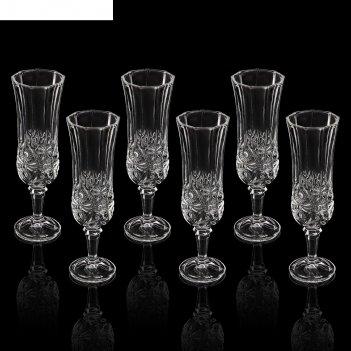 Набор бокалов для шампанского 6 шт флоренция, 200 мл 6х20 см