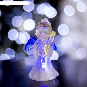 Игрушка световая ангел с гитарой (батарейки в комплекте) 1 led, rgb, цветн