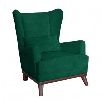 Кресло оскар, велюр зеленый