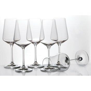 Набор бокалов для вина  из 6 шт.сандра 350 мл. высота=23 см. (кор=8набор.)