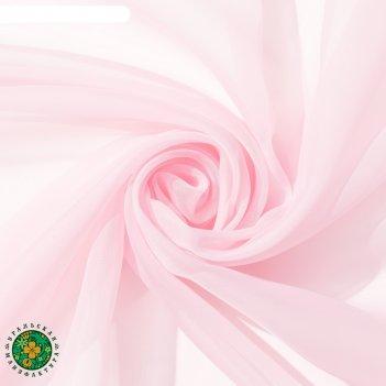 Тюль «этель» 145x270 см, цвет розовый, вуаль, 100% п/э