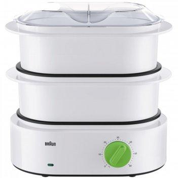 Пароварка braun fs 3000, 850 вт, 2 л, две корзины, чаша для риса в комплек
