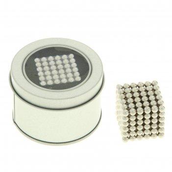 Неокуб серебряный, 216 шариков d=0,5 см