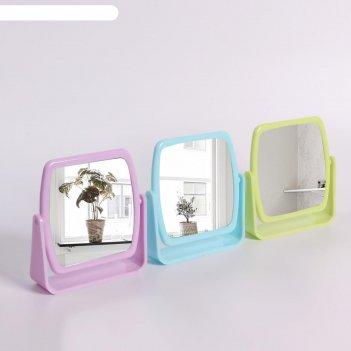Зеркало настольное, зеркальная поверхность — 10 x 10 см, микс