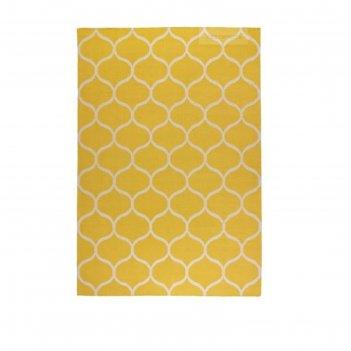 Ковёр стокгольм, размер 170х240 см, безворсовый, цвет желтый