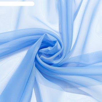 Тюль «этель» 290x300 см, цвет небесно-голубой, вуаль, 100% п/э