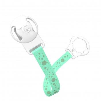 Клипса-держатель для пустышки twistshake, цвет пастельный зелёный