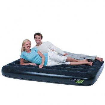 Надувная кровать универсальная comfort green single (одноместная)